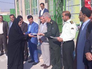 نواختن زنگ مهرومقاومت دردبیرستان حضرت زینب (س)شهرچرام+تصاویر