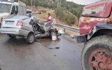 """تصادف مرگبار پراید با کامیون در محور """"باشت- گچساران"""""""